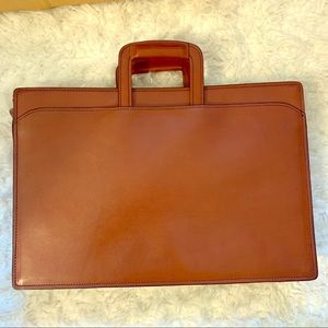 SCHLESINGER Bros.Vintage  Briefcase saddle leather